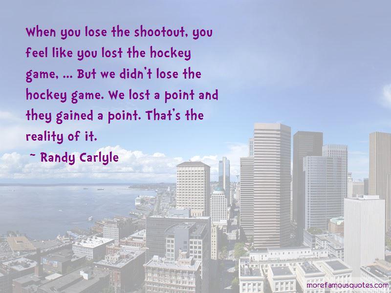 Hockey Shootout Quotes