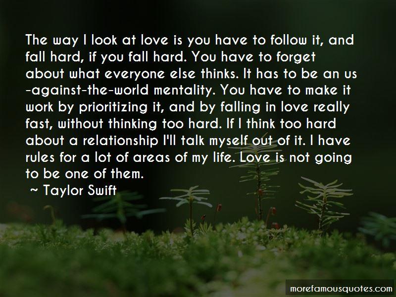falling in love too soon