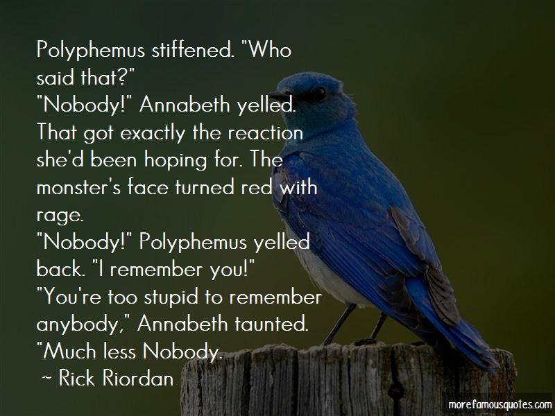 Polyphemus Quotes
