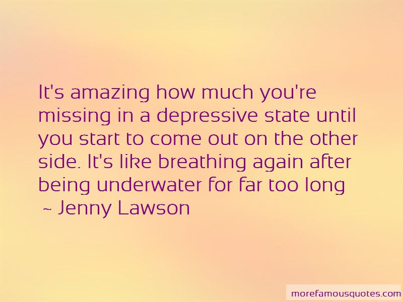 Quotes About Being Underwater