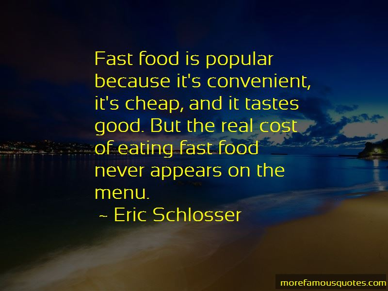 Eating Fast Food Quotes Pictures 2