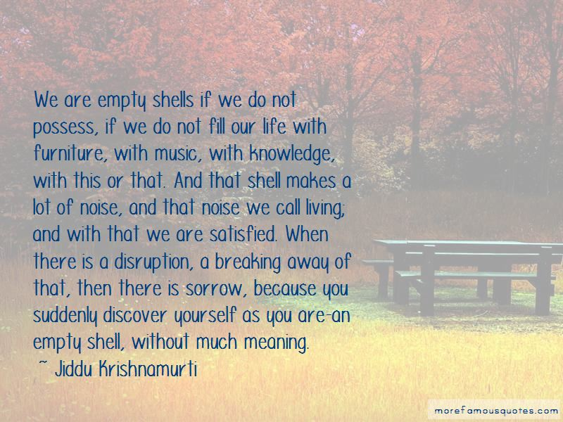 Quotes About Empty Shell
