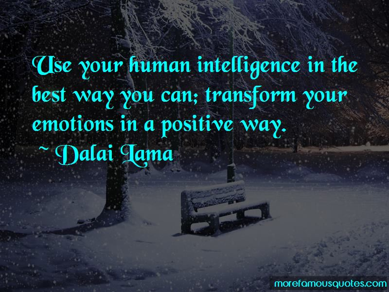 Quotes About Intelligence And Emotions