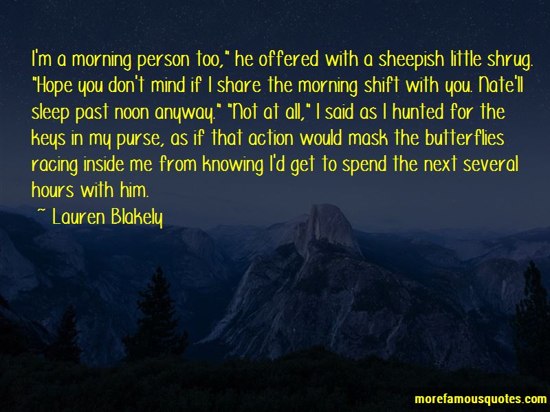 Quotes About Morning Shift