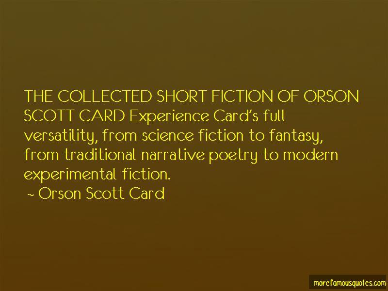 Quotes About Orson Scott Card