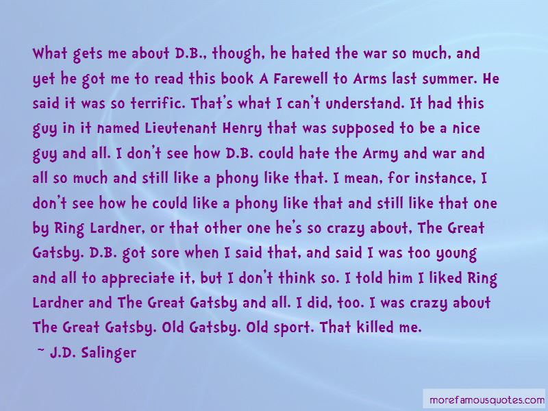 Quotes About The War In The Great Gatsby: top 1 The War In