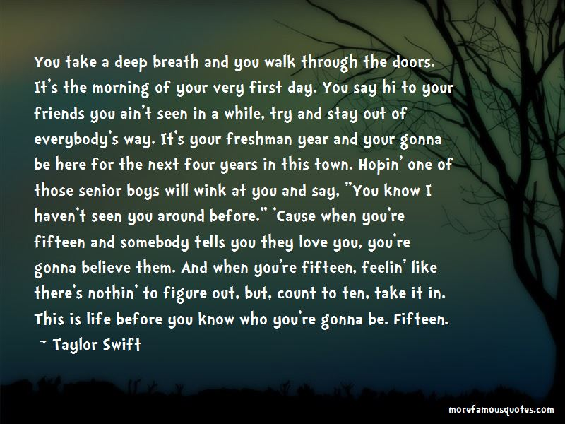 Quotes About Your First Day Of Senior Year: top 1 Your First ...
