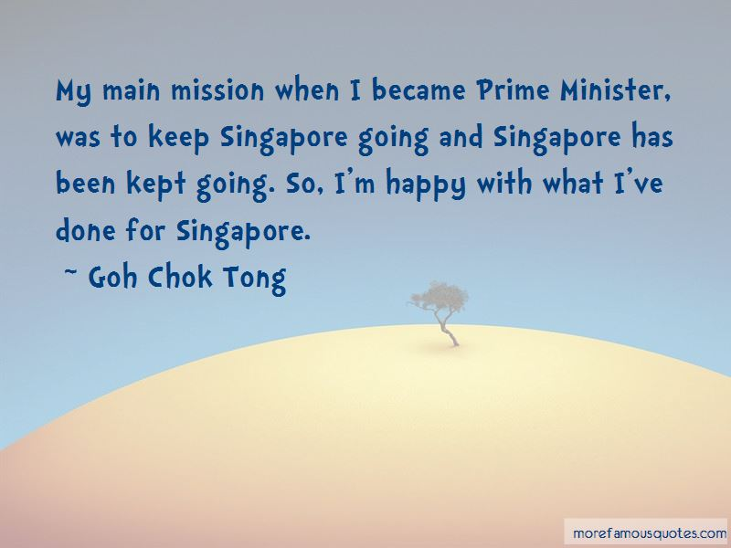 Singapore Minister Quotes