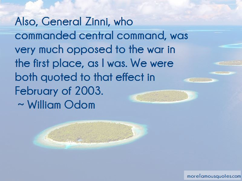 General Zinni Quotes