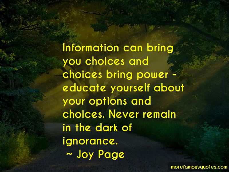 Quotes About Choices And Options