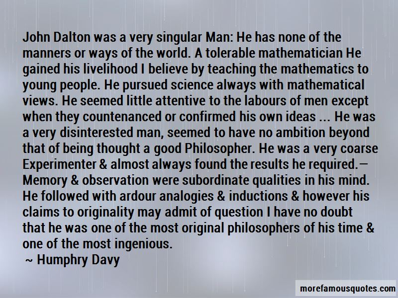 Quotes About John Dalton