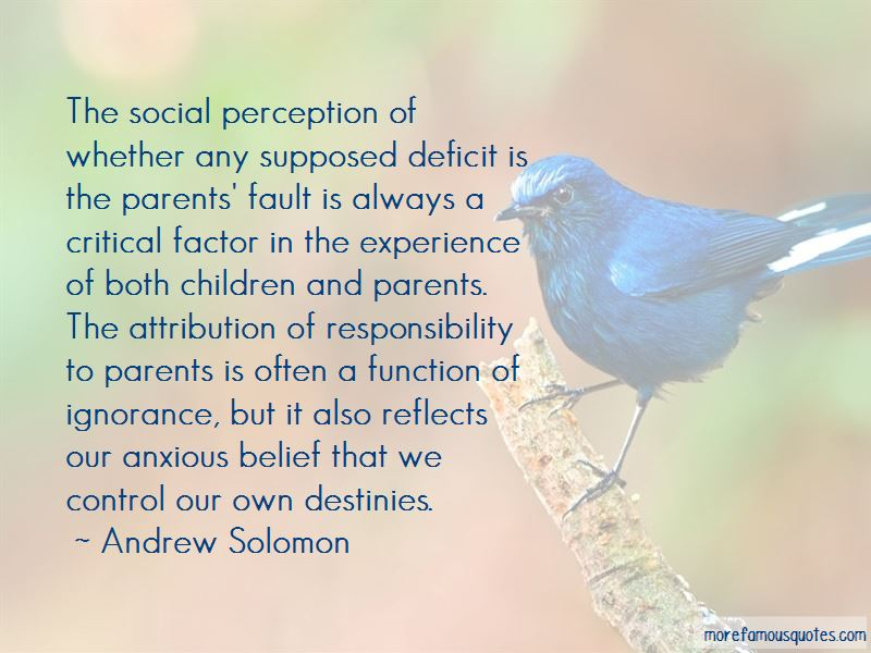 Quotes About Responsibility To Parents