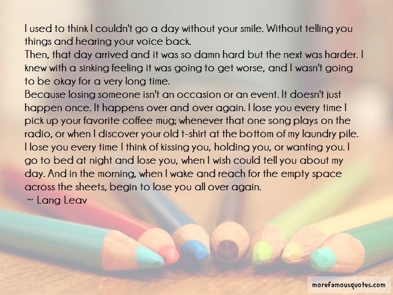 Quotes About The Feeling Of Losing Someone