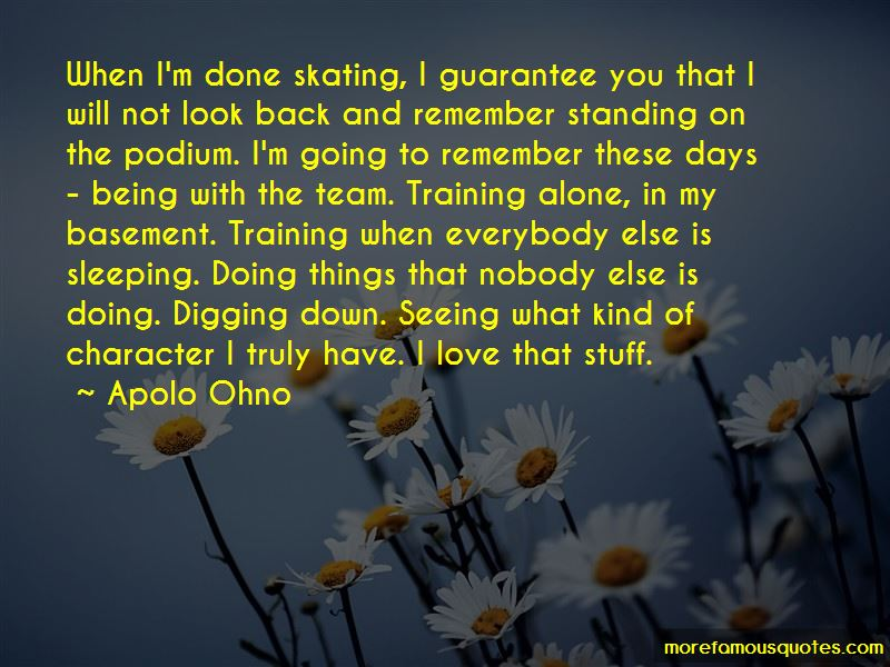 Quotes About Training Alone
