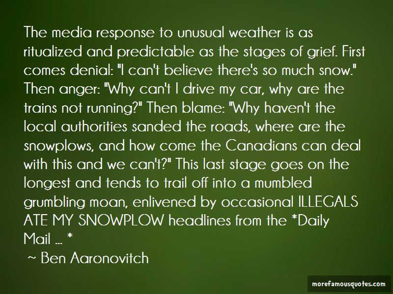 Quotes About Unusual Weather