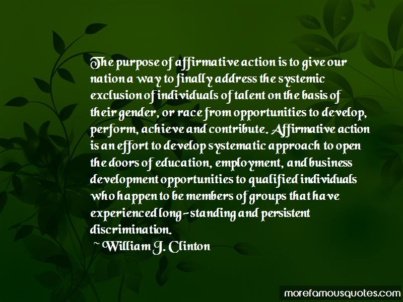 the purpose of affirmative action