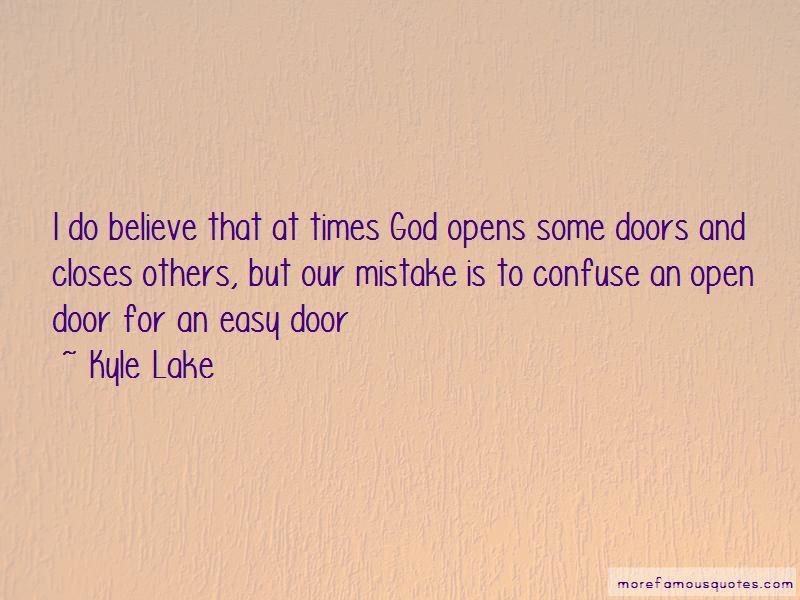 God Open Door Quotes