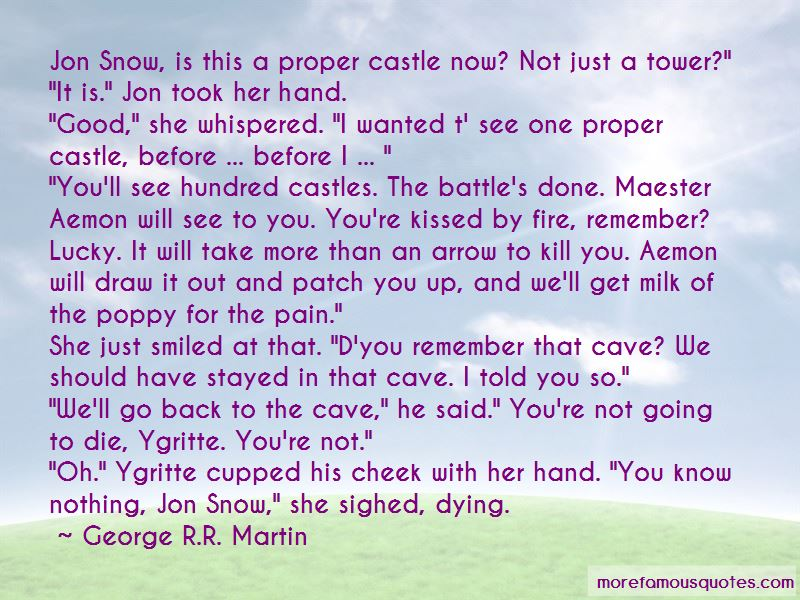 Jon Snow Ygritte Cave Quotes