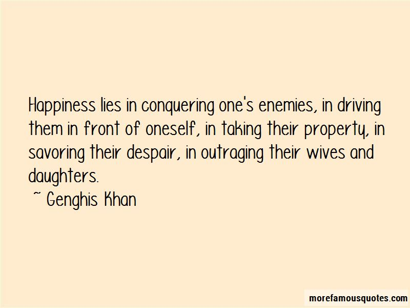 Quotes About Conquering Enemies