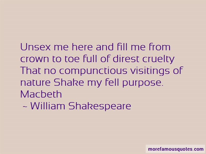 Quotes About Cruelty In Macbeth