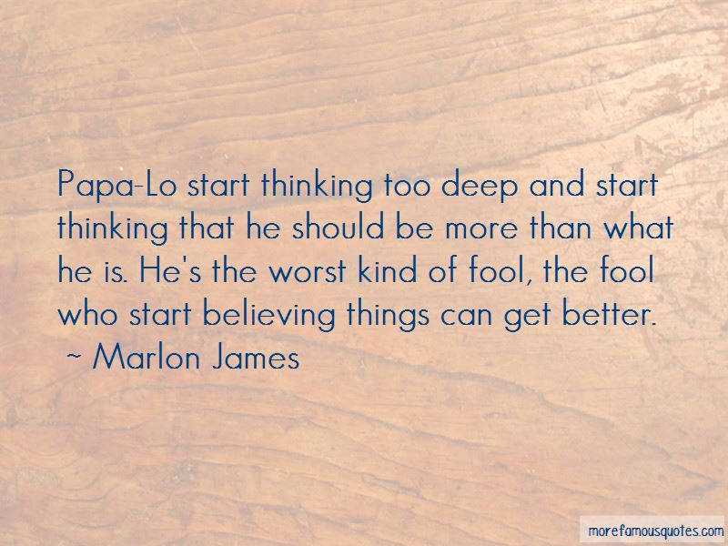 Quotes About Thinking Too Deep