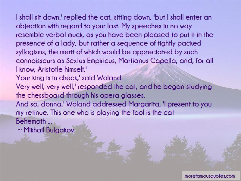Behemoth Cat Quotes