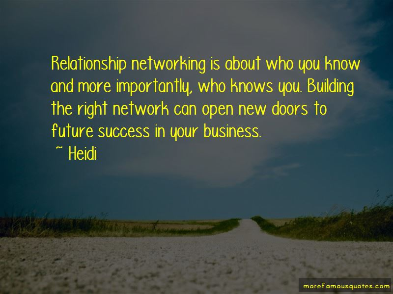 Business Relationship Success Quotes