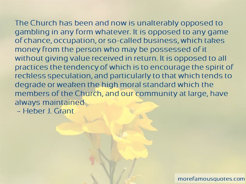 Church And Money Quotes