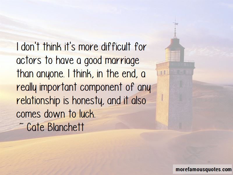 Honesty And Marriage Quotes