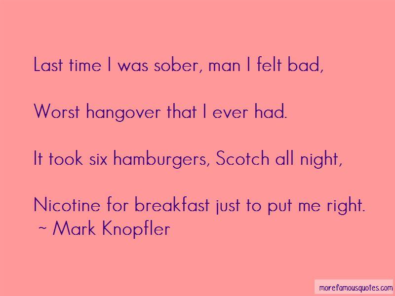 Last Night Hangover Quotes