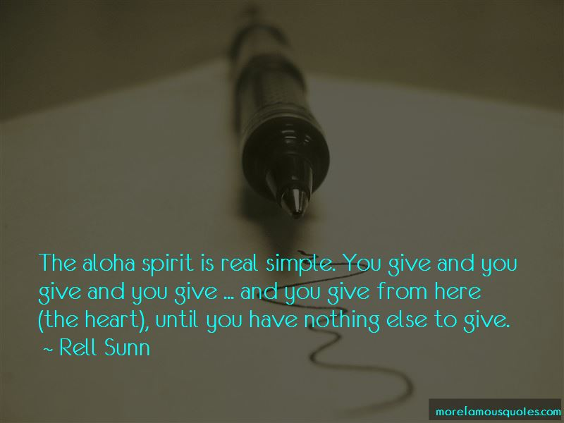 Quotes About Aloha Spirit
