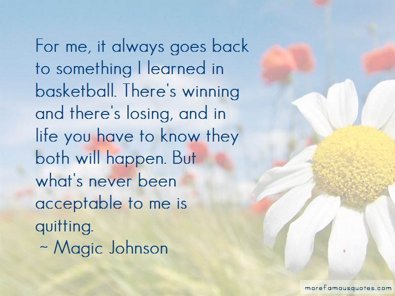 Quotes About Basketball Losing