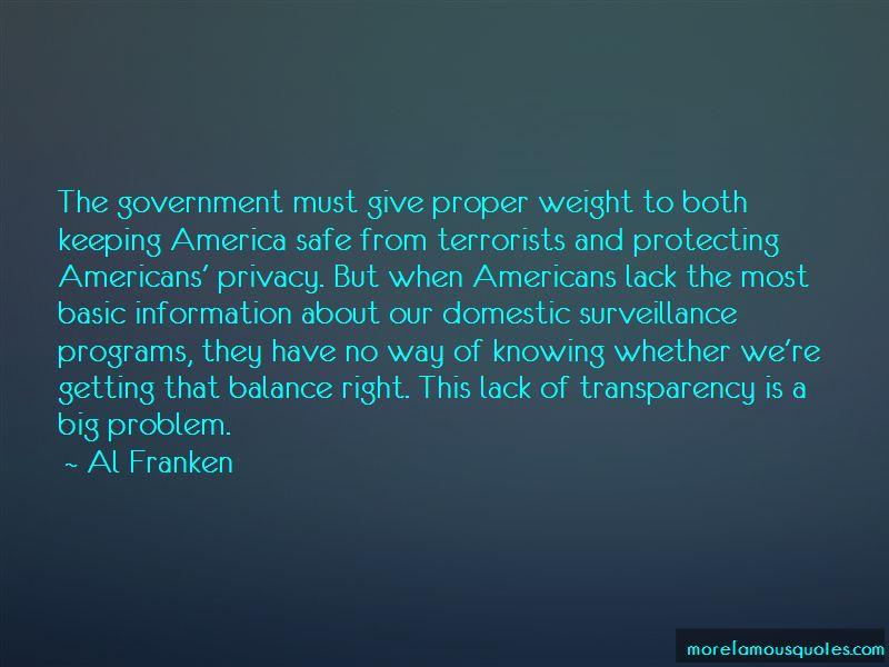 Quotes About Domestic Surveillance