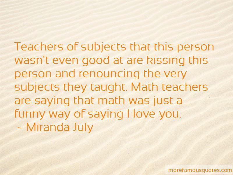 Quotes About Math Teachers