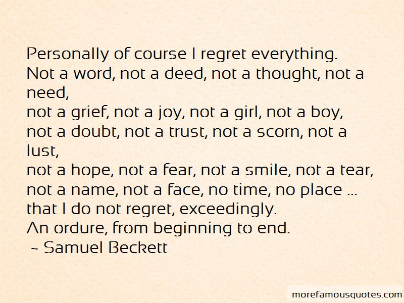 Quotes About Regret And Trust