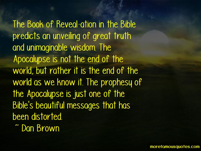 Quotes About The End Of The World Bible