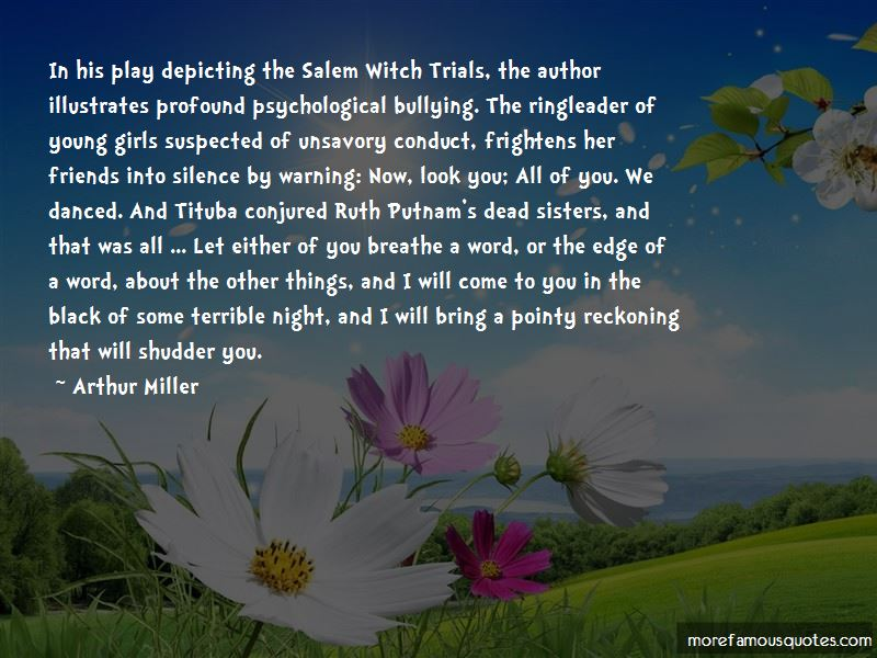 Quotes About Witch Trials