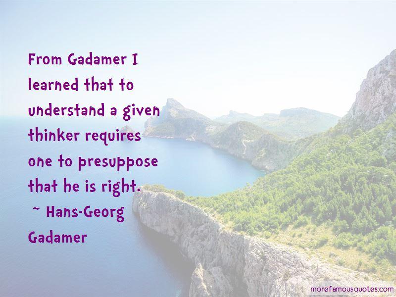 Gadamer Quotes Pictures 2