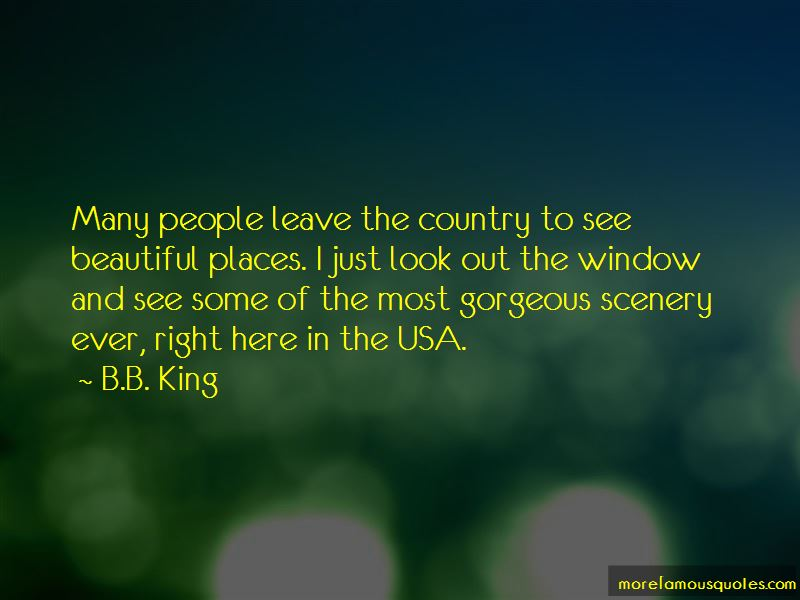 Quotes About Country Scenery