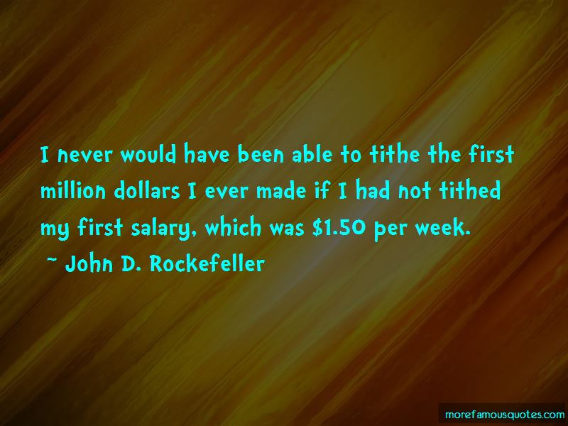 Quotes About First Salary