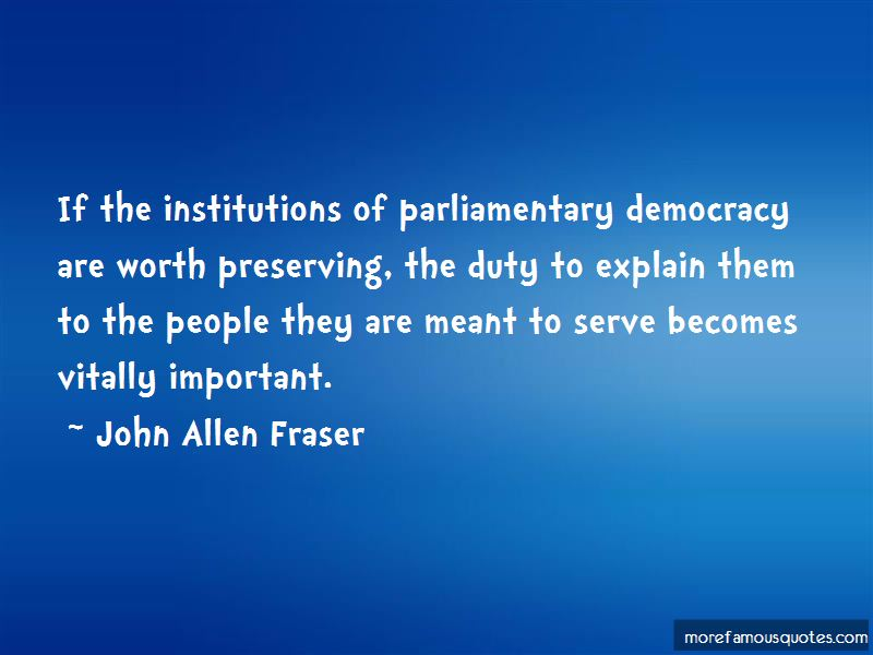 Quotes About Parliamentary Democracy