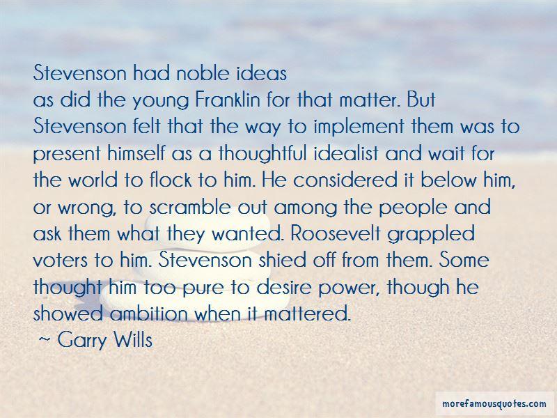 Stevenson Quotes