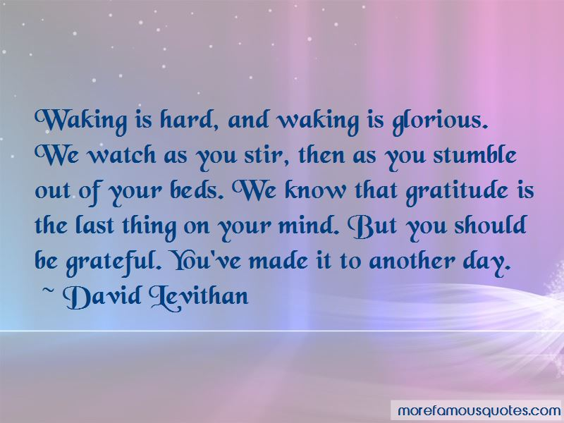 Waking Up Grateful Quotes