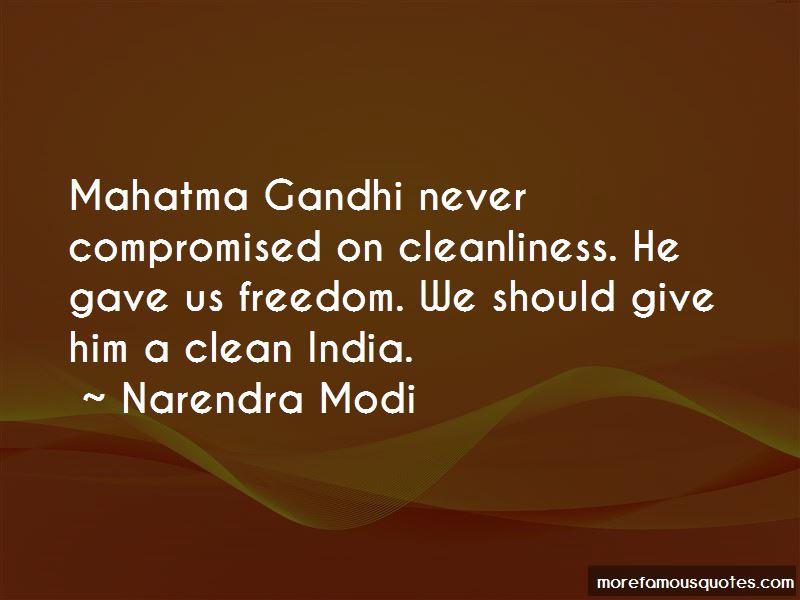 Clean India Gandhi Quotes