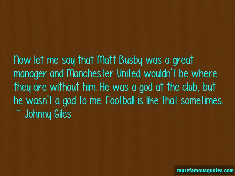 Matt Busby Football Quotes