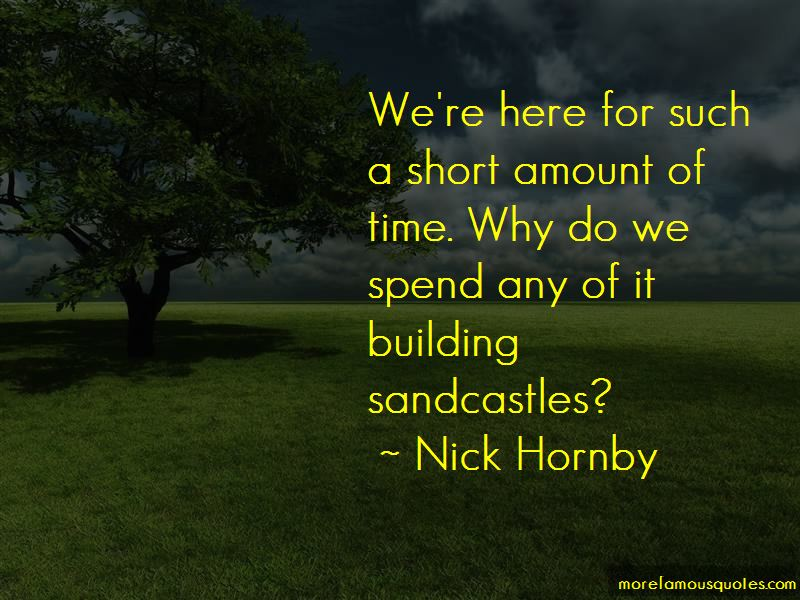 Quotes About Building Sandcastles