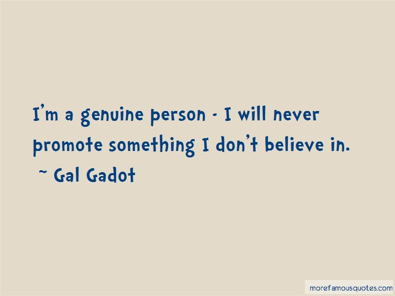 Quotes About Genuine Person