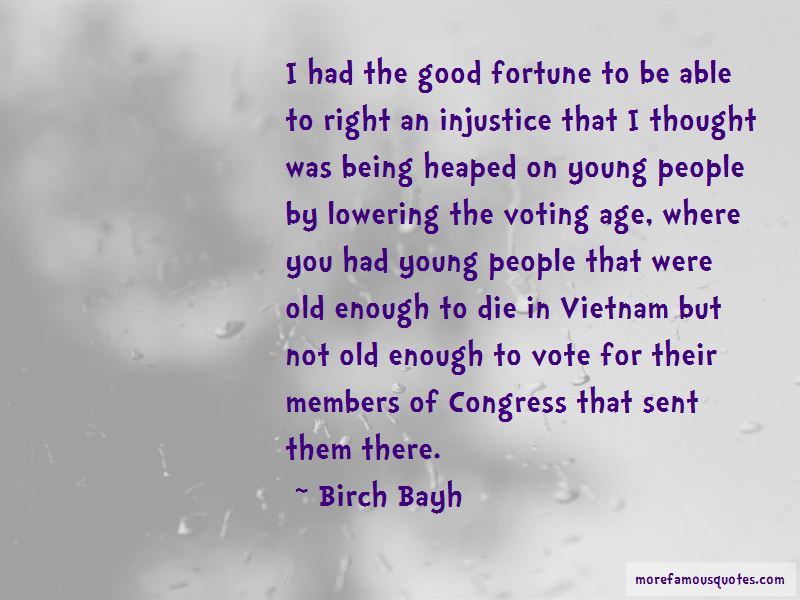 Quotes About Lowering The Voting Age