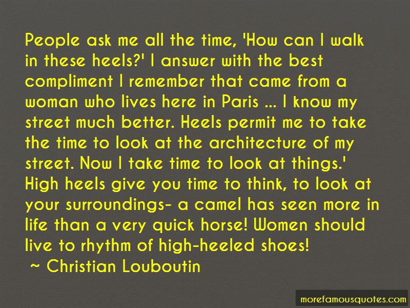 Quotes About Shoes High Heels