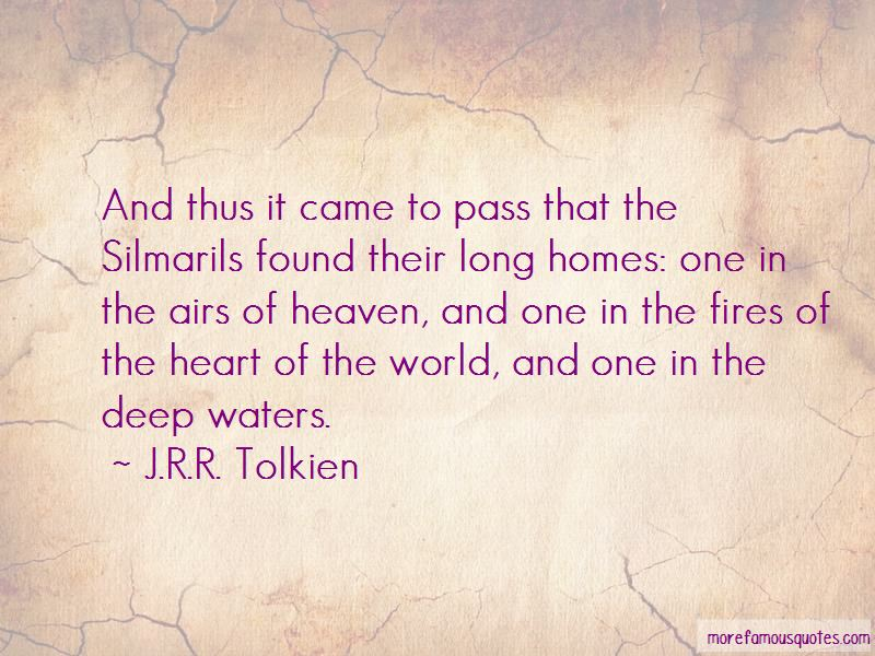 Quotes About The Silmarils